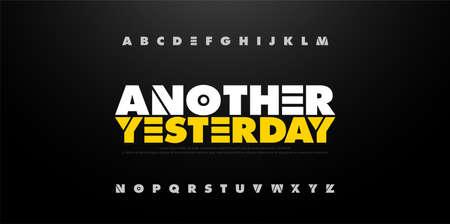 Abstract Alphabet Bold Fun Font. Typography sport, modern, movie, fun, education fonts set. vector illustration Ilustração