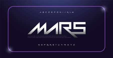 sport modern alphabet space font. technology typography white regular fonts uppercase. vector illustration