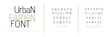 Elegant alphabet letters font. Classic Custom Lettering Fashion Modern Designs. Typography fonts classic style uppercase, lowercase and number letter. vector illustration