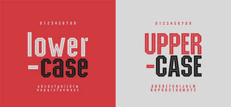 Sport modern alphabet font and number. Typography fonts uppercase and lowercase. Urban college simple style. vector illustration Ilustração