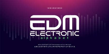 digital music modern alphabet fonts. Typography EDM electronic dance music future creative font design concept. vector illustration