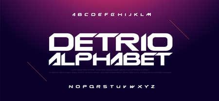 Sport Modern Technology Alphabet Font. Typography fonts for movie technology, sport, game, motorcycle, racing logo design. vector illustration