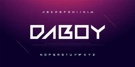 Sport Modern Technology Alphabet Font. Typography for movie, digital, sport, motorcycle, racing logo design fonts. vector illustration