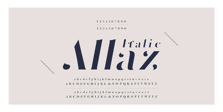Elegant awesome alphabet letters italic font and number. Classic Lettering Minimal Fashion Designs. Typography fonts regular uppercase and lowercase. vector illustration