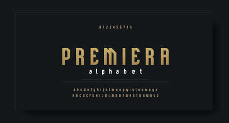 Condensed luxury font alphabet typeface. Modern Alphabet Fonts. Typography urban high, tall letters style uppercase, lowercase  and numbers. vector illustration