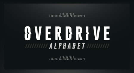 Sport Modern Italic Alphabet Font. Typography wave style fonts for sport, racing, technology, digital, movie logo design. vector illustration  イラスト・ベクター素材