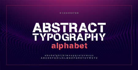 Abstract modern alphabet fonts and numbers. Typography electronic digital game music future creative urban font design concept. vector illustration