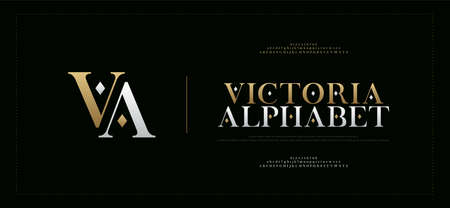 Elegant alphabet letters serif font and number. Luxury Classic Lettering Minimal Fashion. Typography fonts regular uppercase, lowercase and numbers. vector illustration