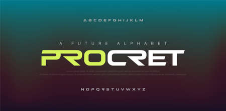 Abstract digital modern alphabet fonts. Typography technology electronic, sport, music, future creative font. vector illustration