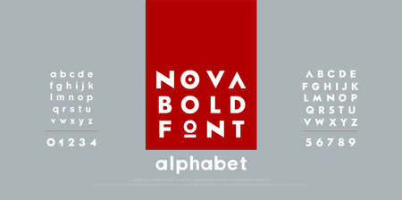 Abstract fashion modern alphabet fonts. Typography technology electronic urban music future creative font. and number vector illustration
