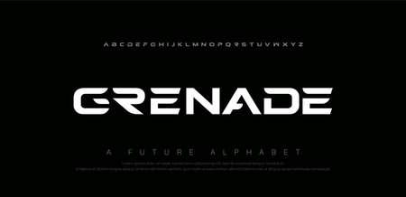 Sport digital modern alphabet fonts. Abstract typography technology electronic, sport, music, future creative font. vector illustration  イラスト・ベクター素材