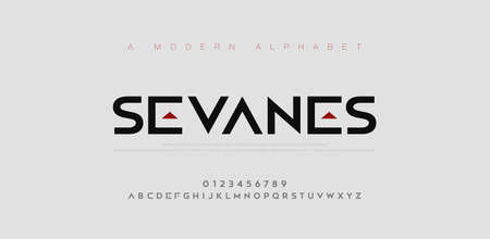 Abstract modern urban alphabet fonts. Typography sport, simple, technology, fashion, digital, future creative logo font. vector illustration Illustration