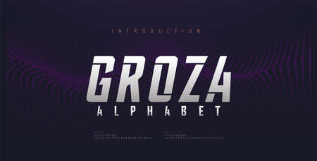 Sport Modern Future Italic Alphabet Font. Typography urban style fonts for technology, digital, movie logo italic style. vector illustration Illustration