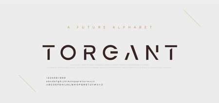 Abstract minimal modern alphabet fonts. Typography technology electronic digital music future creative font. vector illustration