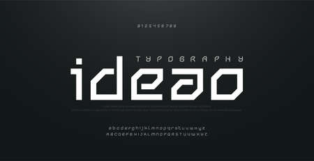 Abstract modern urban alphabet fonts. Typography sport, technology, fashion, digital, future creative logo square design font. vector illustration