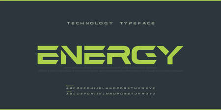 Sport Modern Future bold Alphabet Font. Typography urban regular and italic style fonts for technology, digital, movie logo bold style. vector illustration Illustration