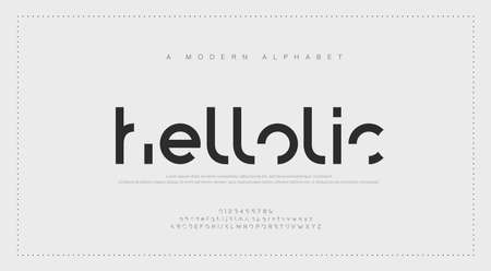 Abstract modern urban alphabet fonts. Typography sport, simple, technology, fashion, digital, future creative logo font. vector illustration Иллюстрация
