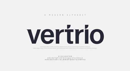 Abstract modern urban alphabet fonts. Typography sport, technology, fashion, digital, future creative logo font. vector illustration