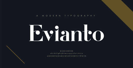 Elegant alphabet letters font and number. Classic Lettering Minimal Fashion Designs. Typography modern serif fonts decorative vintage design concept. vector illustration