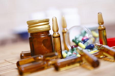 disease control: Ampoules and pills for disease control