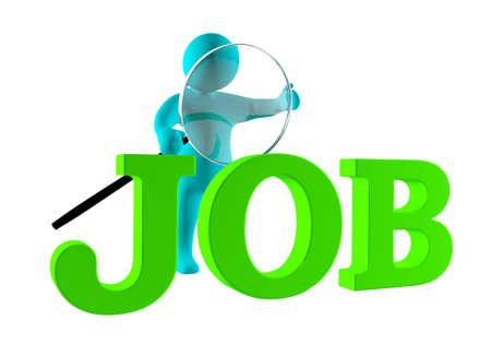 seeks: 3d man seeks for a job
