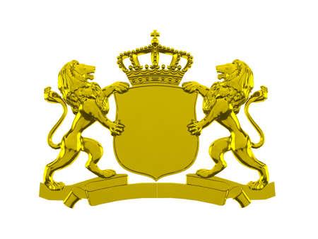 textura oro: Le�n del oro pancarta cresta
