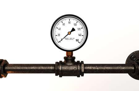 Pressure gauge with metal tube