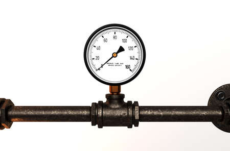 Pressure gauge with metal tube