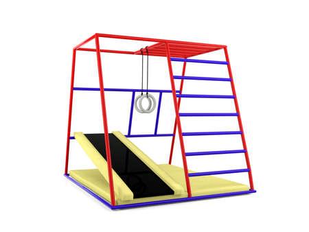 children playground: Outdoor children playground isolated Stock Photo