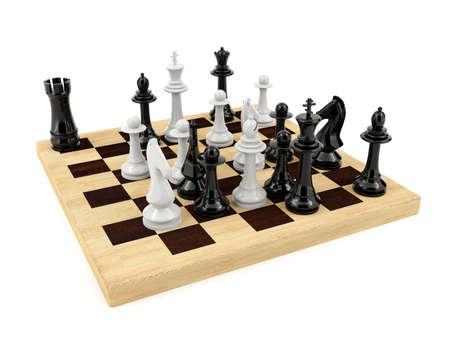 brettspiel: Schach-Brettspiel isoliert auf wei�em Hintergrund