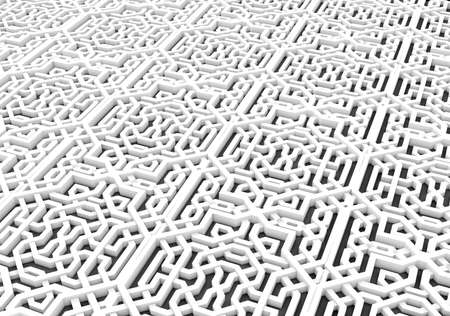 arabic  style: 3d Arabic pattern background Stock Photo