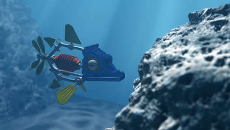 Robot fish in the deep water