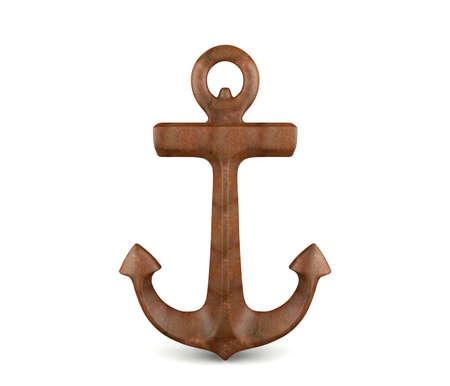 Anchor isolated on white background Zdjęcie Seryjne