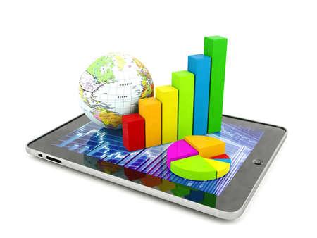 grafica de barras: Concepto de análisis financiero Foto de archivo