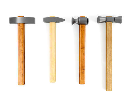 hammered: Hammer set isolated on white background
