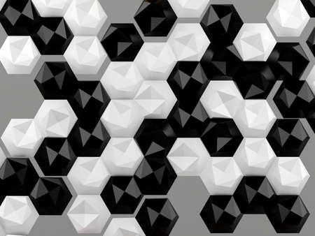 abstrakte muster: Hexagon abstrakten Hintergrund Lizenzfreie Bilder