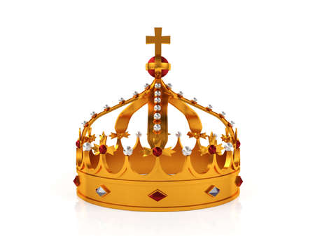 wealth: Gold crown Stock Photo