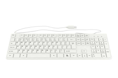computer isolated: Computer keyboard isolated on white background