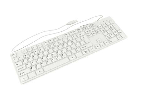 Clavier d'ordinateur isolé sur fond blanc