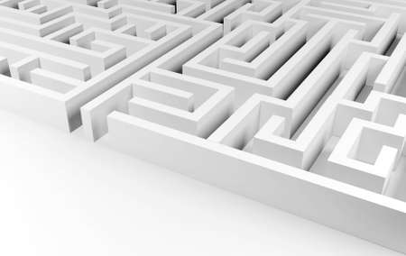 seeking solution: Maze background, complex problem solving concept Stock Photo