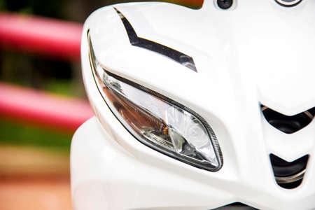 headlight: Modern motorcycle headlight