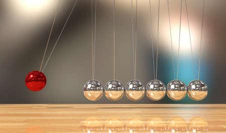 Balancing ball Newton's cradle pendulum