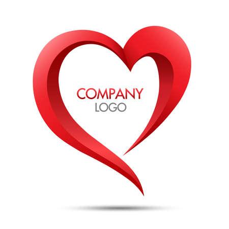 Heart logo vector icon symbol