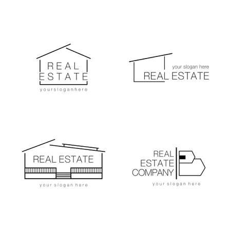 Immobilien-Logo-Design moderne und minimalistische Vektor-Illustration