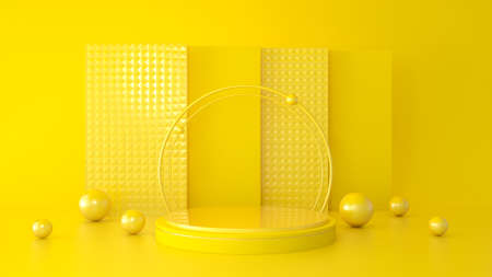 Abstract modern background with geometric shape podium for product presentation, 3d rendering