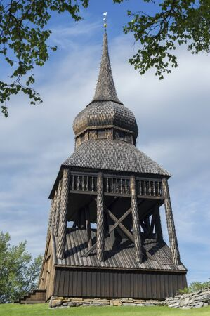 old church tower in Sweden