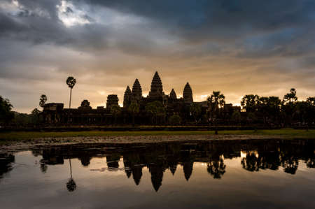 Angkor Wat , Landmark in Siem Reap, Cambodia. Angkor wat inscribed on the UNESCO World Heritage List in 1992