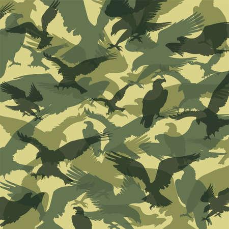 camouflage eagle green Illustration