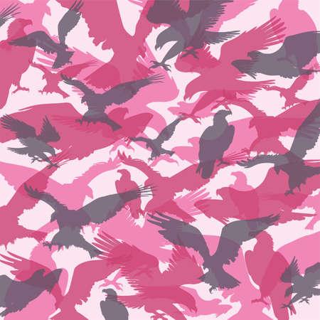 camouflage eagle pink Illustration