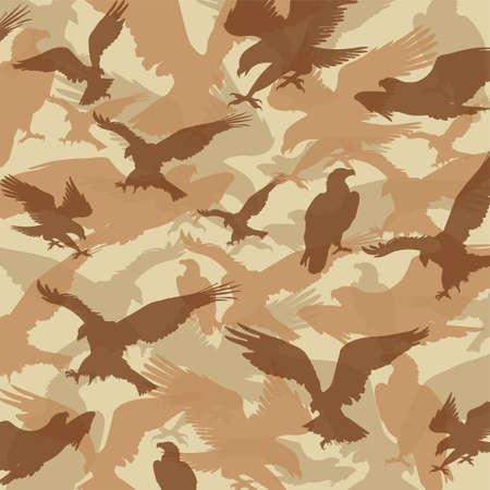 camouflage eagle desert Illustration